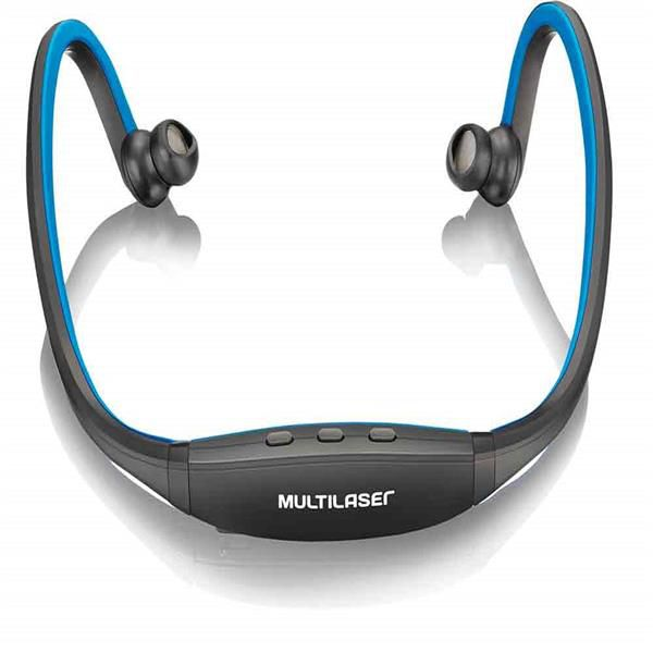 Fone Multilaser PH097 SPORT Bluetooth AZUL/PRETO  - Sarcompy