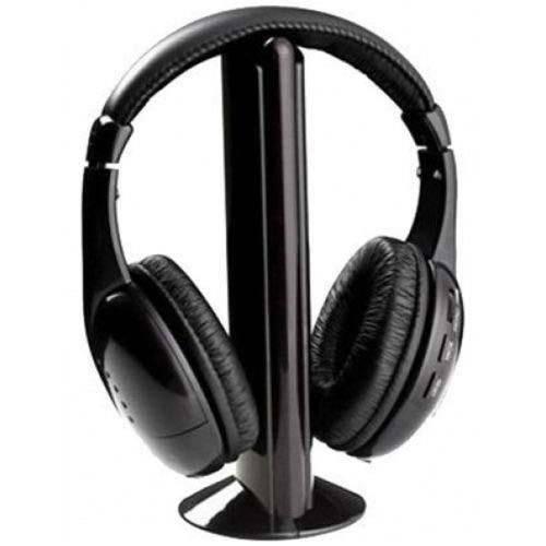Fone sem Fio 5 em 1COM FM KP-323 para  TV,PC,CEL,MP3...  - Sarcompy