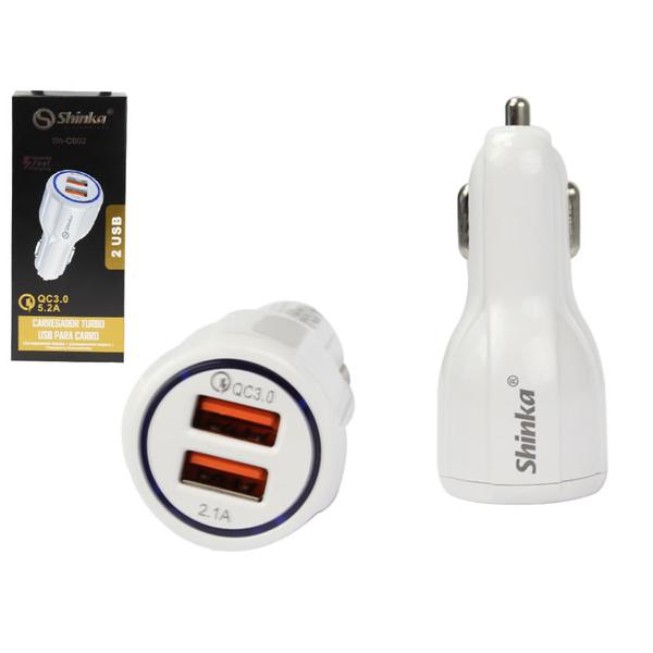 Fonte 2 USB 1 Turbo 1 AUTO-ID 4.2 a 21W Shinka SH-A2405Q  - Sarcompy