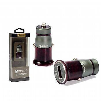 Fonte Veicular 1 USB Turbo + Cabo V8 1M Branco  - Sarcompy