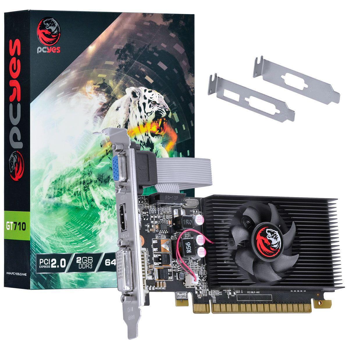 Gpu GT710 2GB DDR3 64 PA710GT6402D3LP  - Sarcompy