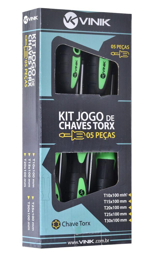 Jogo de Chave TORXS 5 Pecas  - Sarcompy