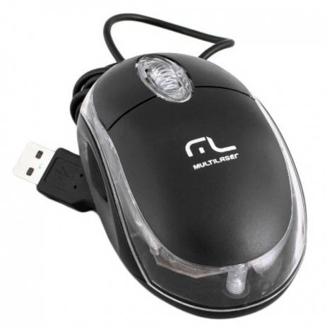 Mouse Classic BOX Optico Preto USB  - Sarcompy