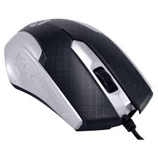 Mouse Optico PS2/USB MB71 1200DPI PRETO/PRATA  - Sarcompy