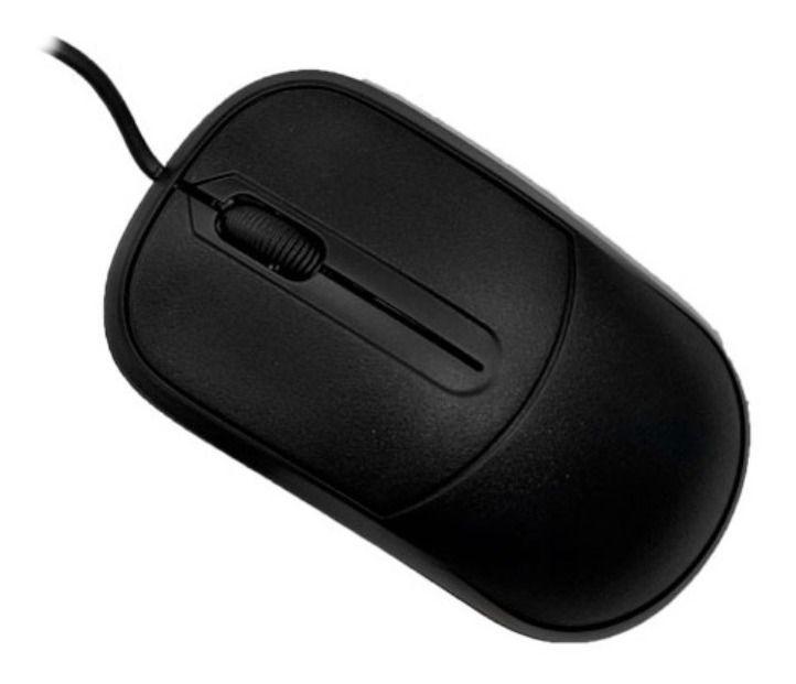 Mouse USB C3TECH CK-MS35BK S/ Logo Preto S/ Logo  - Sarcompy