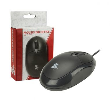 Mouse USB CHIP SCE 1000DPI 5+ Preto  - Sarcompy