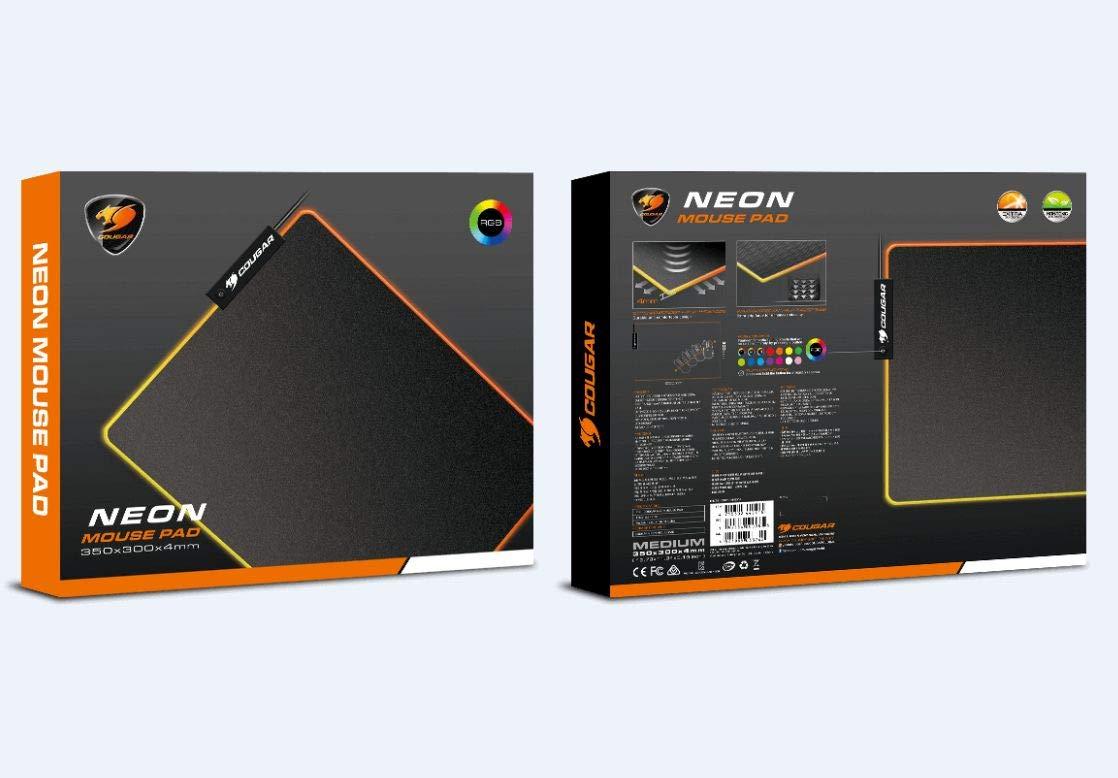 Mousepad Gamer Cougar Neon RGB  - Sarcompy