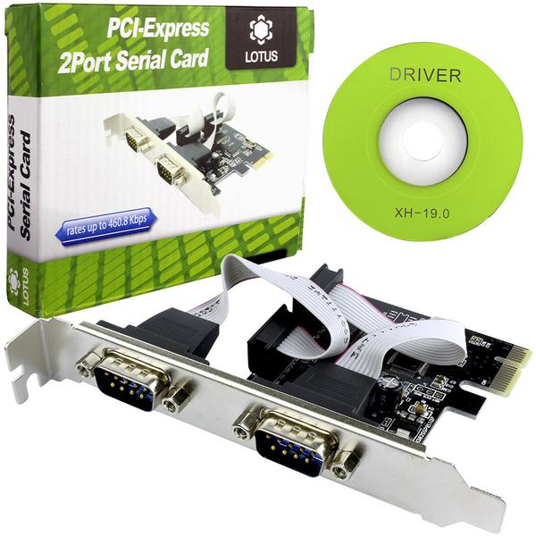 Placa 2PORT Serial PCI-EXPRESS  - Sarcompy