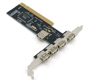 Placa PCI Via com 5 Portas USB 2.0 BOX DP-52  - Sarcompy