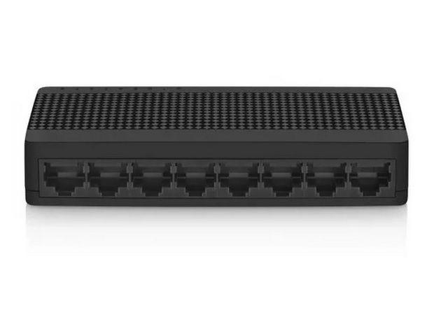 Switch Rede RJ45 8 Portas Multilaser RE308 10/100 MBPS Preto  - Sarcompy