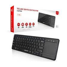 Teclado  sem  Fio com Mouse Touch K-WT100BK C3T  - Sarcompy