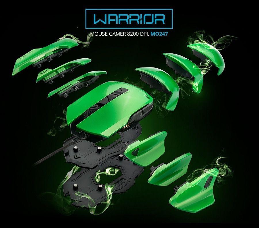 Warrior Gamer Mouse ARMOR 54 Combinações 8200 DPI  - Sarcompy