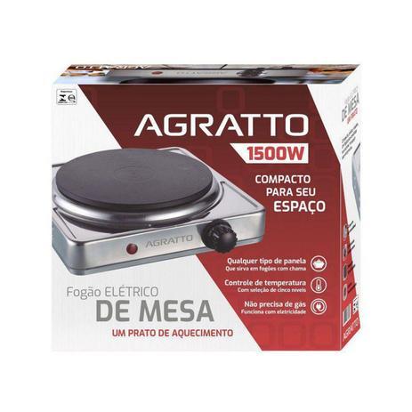 FOGAO ELETRICO DE MESA 1 PRATO FMA-01 127V 1500W AGRATTO