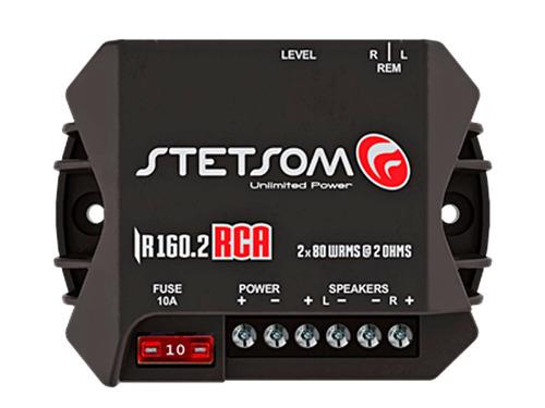 MODULO STETSOM IRON LINE IR 160.2 RCA - 2X80W/RMS RCA/ FIO