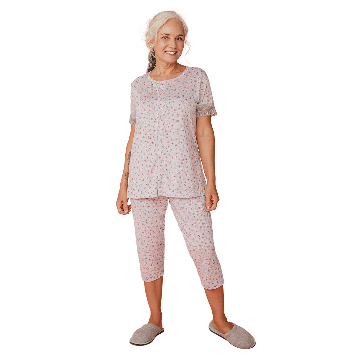 Pijama Feminino Aberto Mardelle