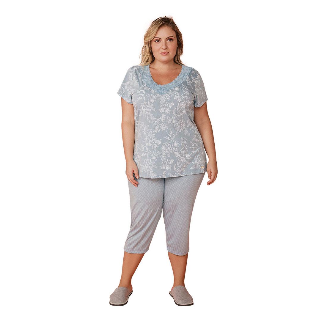Pijama Feminino Plus Size Mardelle