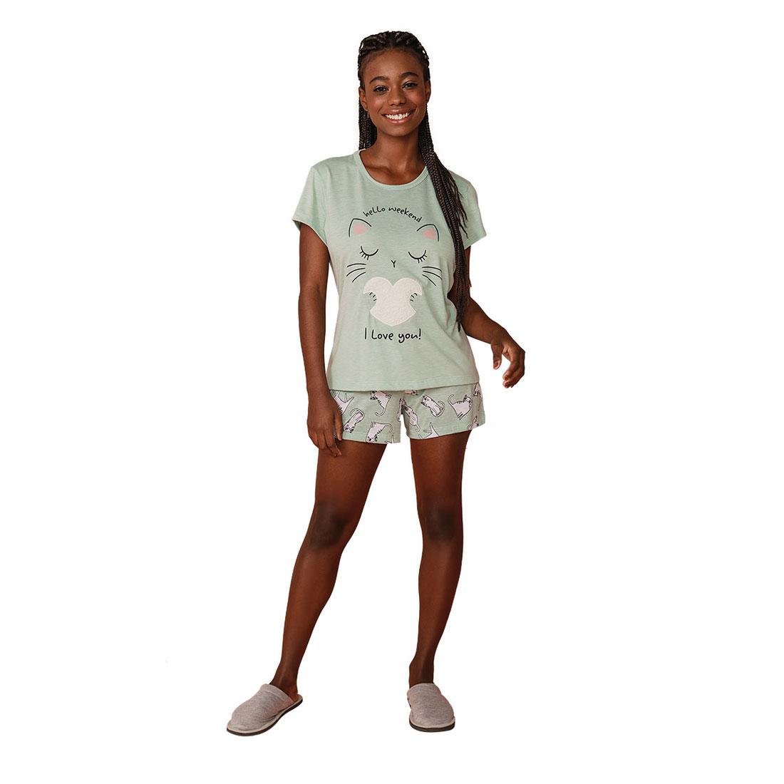 Pijama Feminino Short Doll  Mardelle