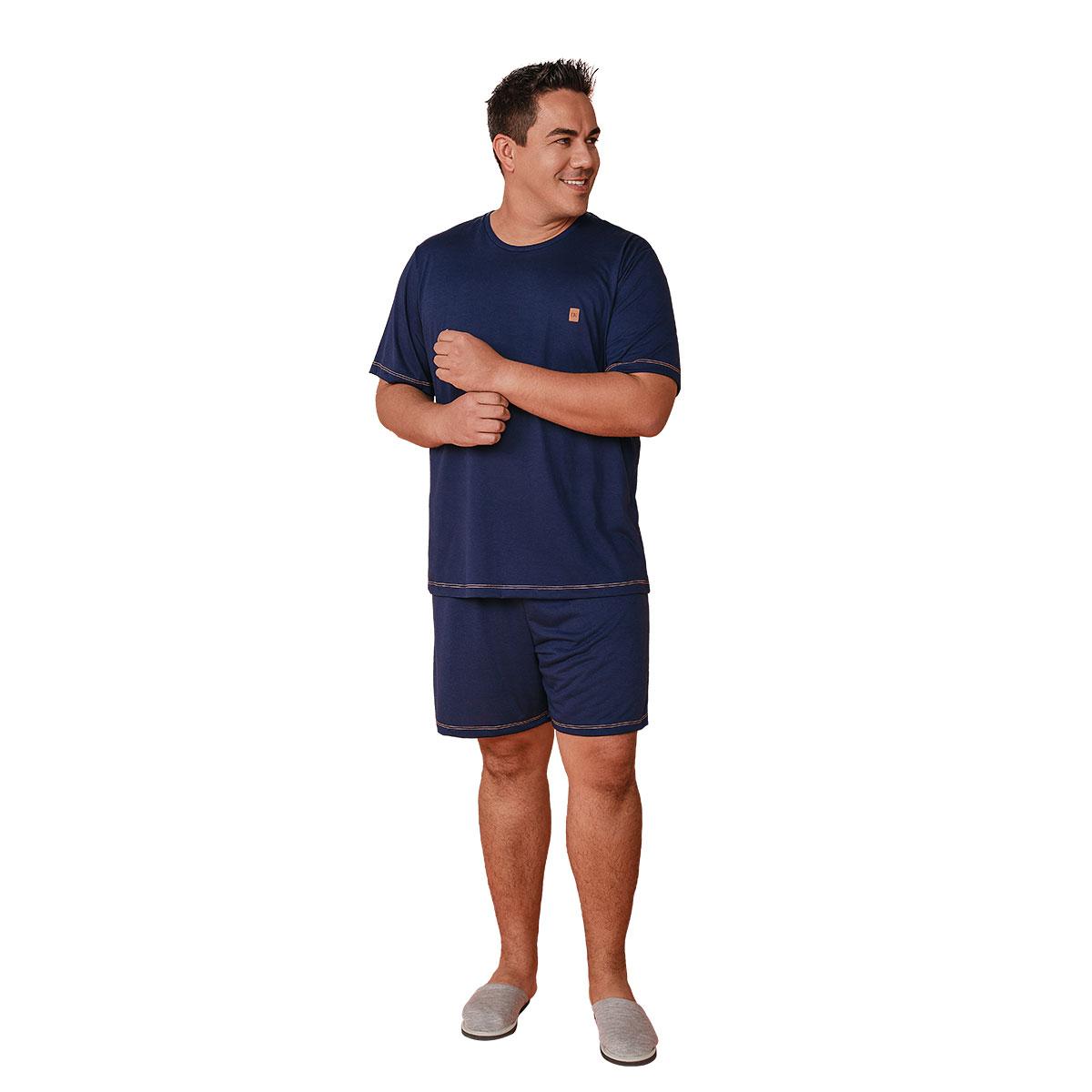 Pijama Masculino Fechado Plus Size Mann Mardelle