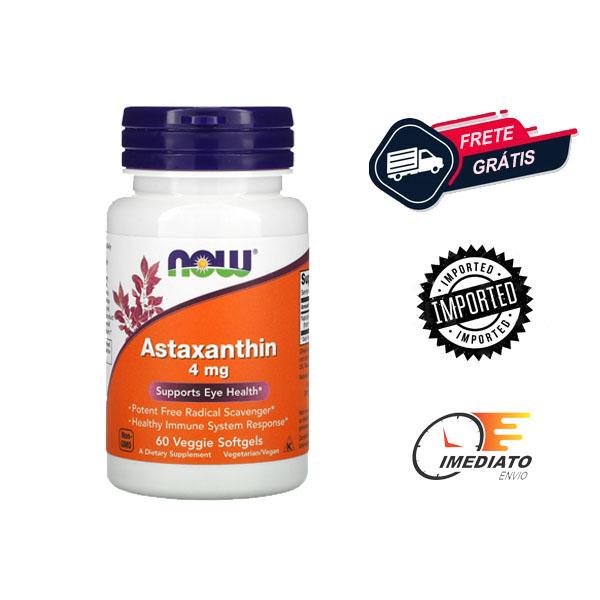 Astaxantina - Now Foods (4 mg - 60 Cápsulas)