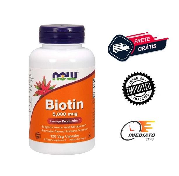 Biotina - Now Foods (5000mcg - 100 cápsulas)
