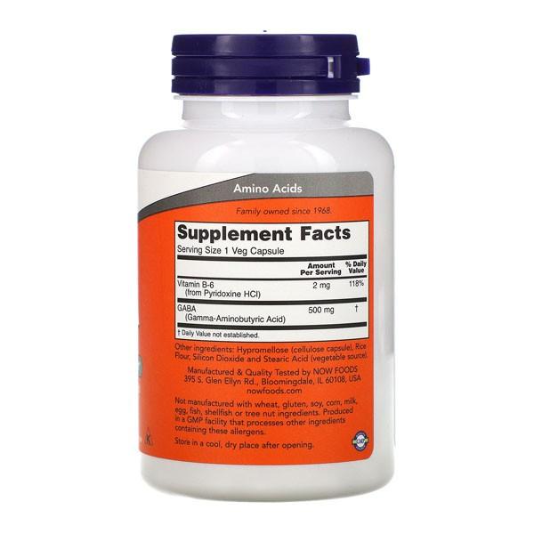 GABA - Now Foods (100 cápsulas - 500 mg )