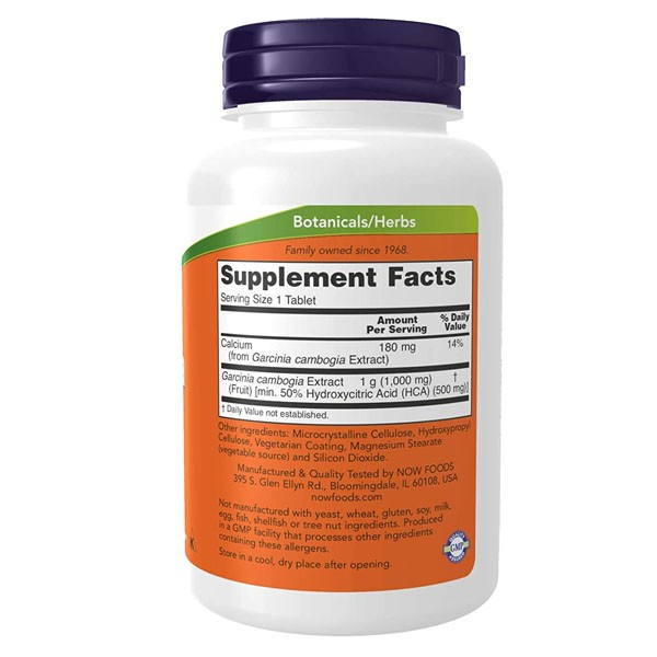 Garcinia Cambogia - Now Foods (1000mg - 120 Tablets)