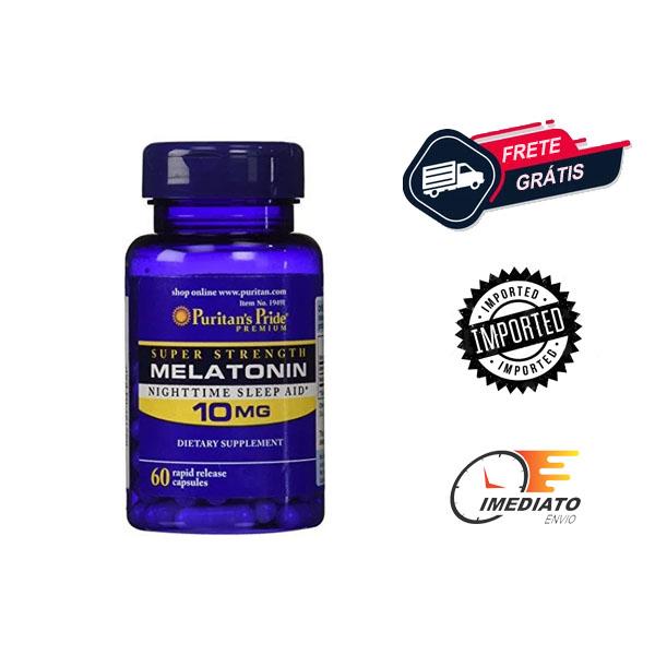 Melatonina 10 mg - Puritans Pride - (120 cápsulas)