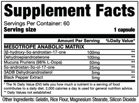 Mesotrope - Dragon Pharma (60 Cápsulas)