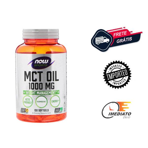 Óleo MCT - TCM - Now Foods (1000 mg - 150 softgel)