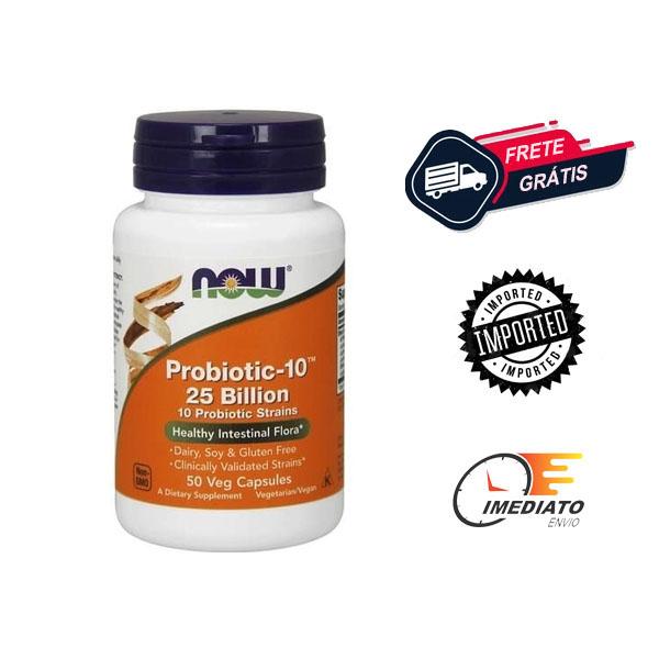 Probiótico - 25 & 50 Bilhões - Now Foods (120 Cápsulas - 14 Bilhões)