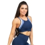 Top Nadador Poliamida UV50+ Marinho com detalhe Branco e Azul