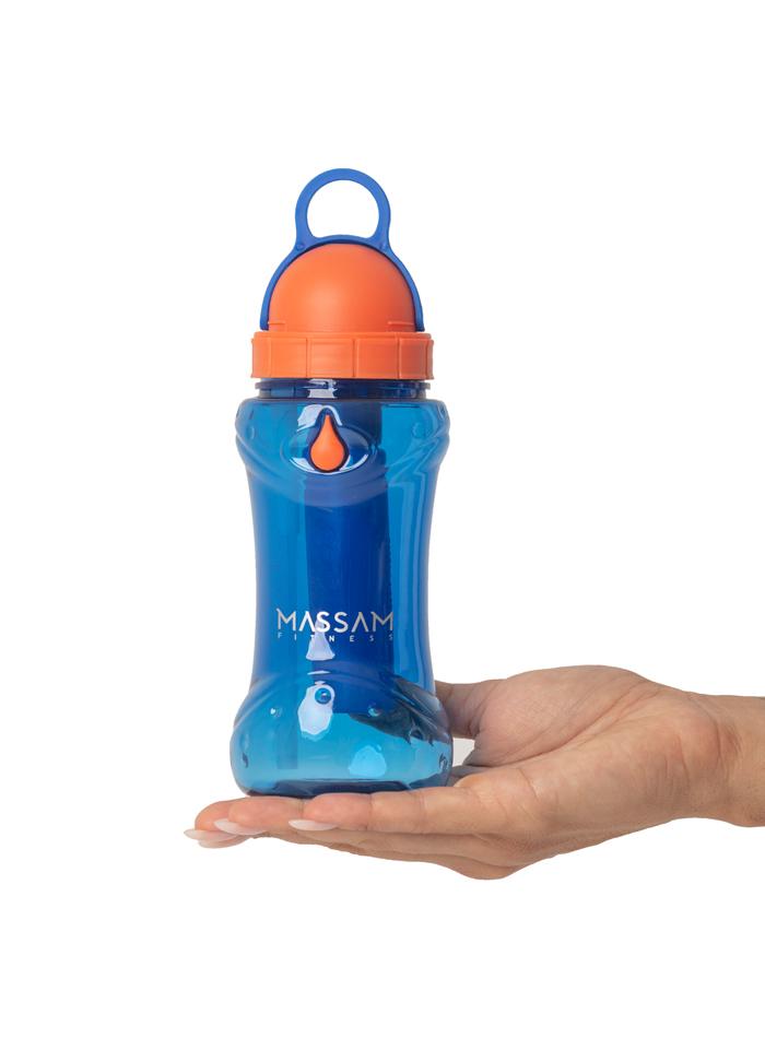Garrafa Mini Barbel 414ml Azul/ Laranja