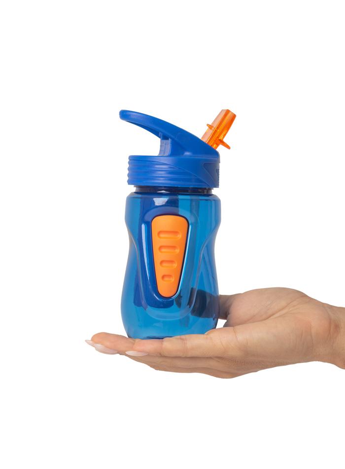 Garrafa Mini Massam Fitness 354 ml Azul/ Laranja