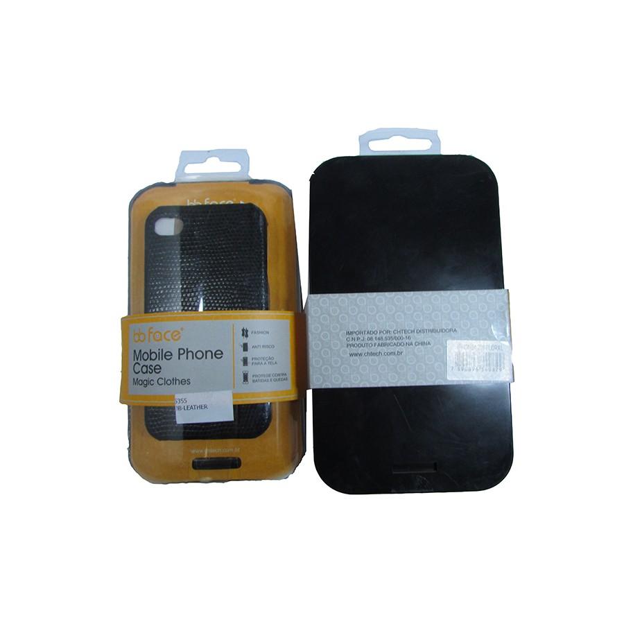 Capa de IPhone 4 de Policarbonato Texturizado Em Linhas Coloridas BB-SHELL Acompanha Película Protetora Aplicador de Película Flanela para Limpeza