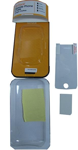Capa de IPhone 4 de Policarbonato Texturizado Em Linhas Coloridas BB-LEATHER Acompanha Película Protetora Aplicador de Película Flanela para Limpeza