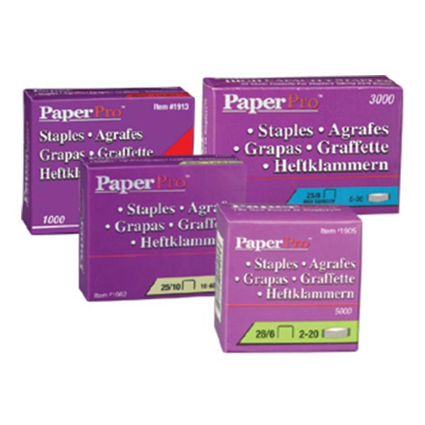 Grampos Paperpro 25/8 (Cx com 3000 Grampos) até 30 Folhas