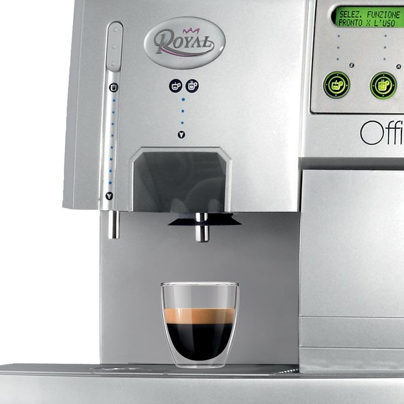 (FORA DE LINHA) Cafeteira Automática Saeco Royal Office 220V com moedor, visor LCD, bomba de pressão de 15 bar