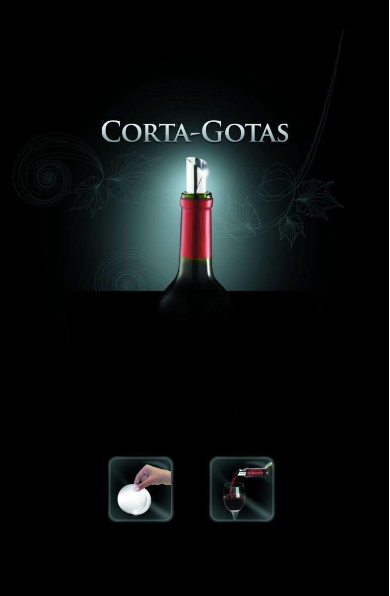 Corta Gotas Tocave pacote com duas películas metalizadas que aderem a boca da garrafa