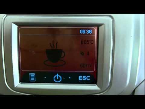 Máquina De Café Expresso T-Klar ME712S 127v Prata Automática Com Moedor De Grãos e Painel Touch Screen