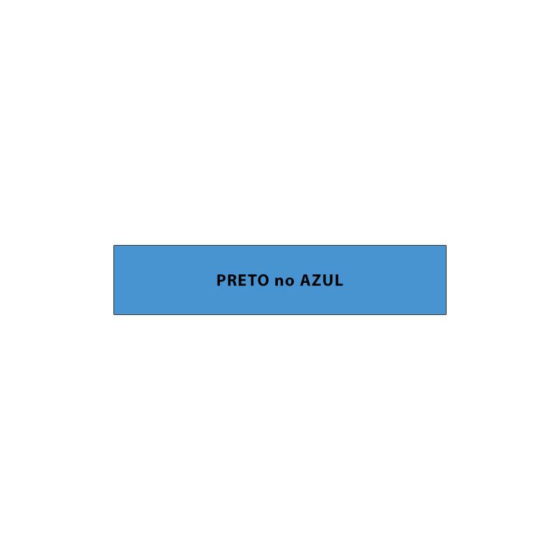 Fita Rotuladora Casio Xr-9Bu1 9mm Preto no Azul para Etiquetadora Kl