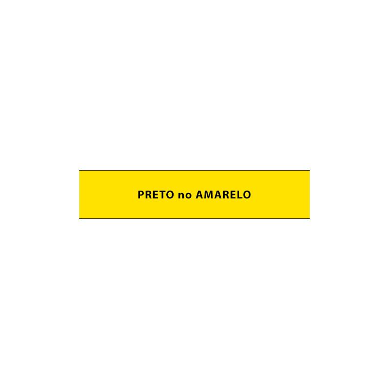 Fita Rotuladora Casio Xr-6Yw1 6mm Preto no Amarelo para Etiquetadora Kl