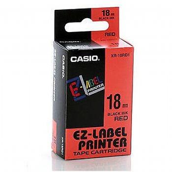 Fita Rotuladora Casio Xr-18Rd1 18mm Preto no Vermelho para Etiquetadora Kl