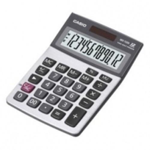 (FORA DE LINHA) Calculadora Casio DX-120S-W-DH Prata 12 dígitos, Solar e Bateria