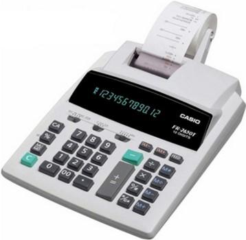Calculadora Casio PRINTER FR-2650T-WE-BA-UEDC 110v 12 dígitos com bobina 2.4