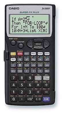 (FORA DE LINHA) Calculadora Programável Cientifica Casio FX-5800P-W-DH Com manual em Inglês