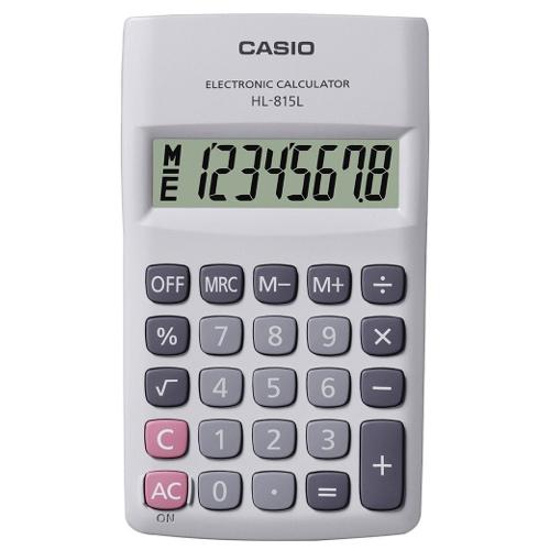 Calculadora de Bolso Casio Hl-815L-We-S4-Dp Branca 8 Díg 4 Operações