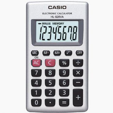 Calculadora de Bolso Casio HL-820VA-S4-DP Prata, 8 Dígitos