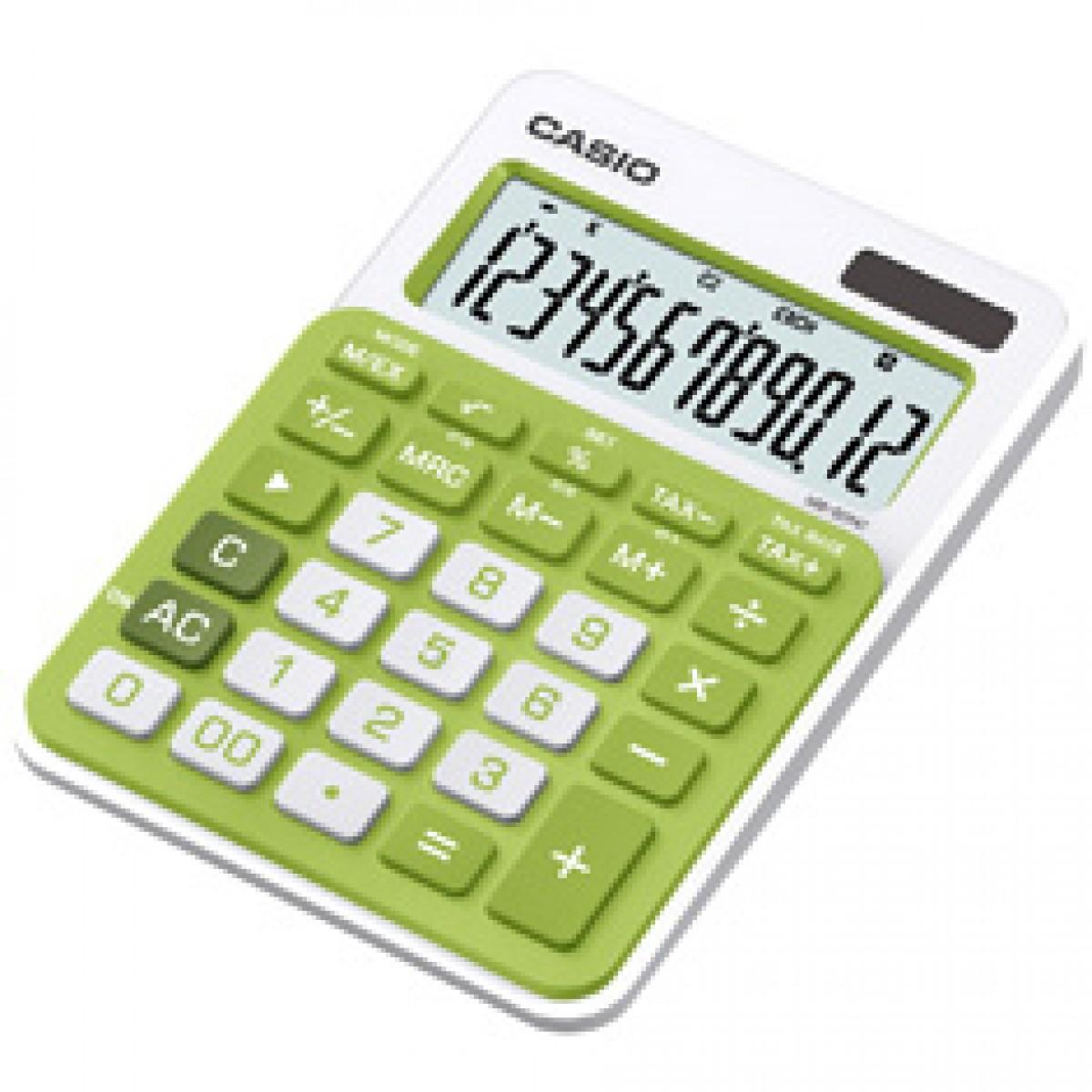 Calculadora de mesa Casio Colorful MS-20NC-GN  12 dígitos, Big display, verde