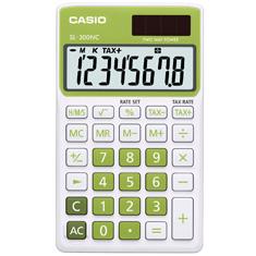 Calculadora de bolso casio Colorful SL-300NC-GN-S-DP 8 dígitos, Cálculo de hora, Cálculo de bolso, Verde