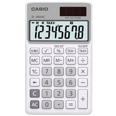 Calculadora de bolso casio Colorful SL-300NC-WE-S-DH Branca